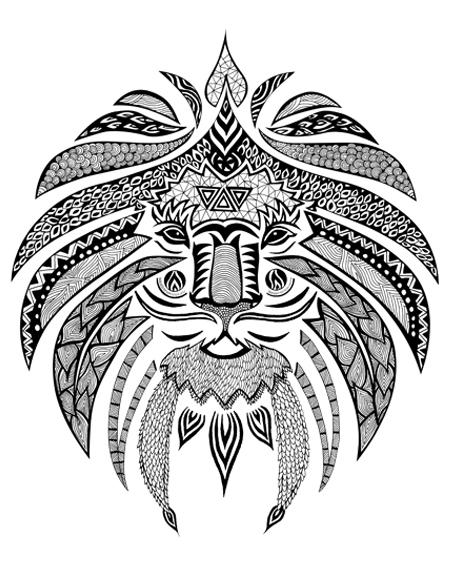 Lion Tribal Print | www.pixshark.com - Images Galleries ...