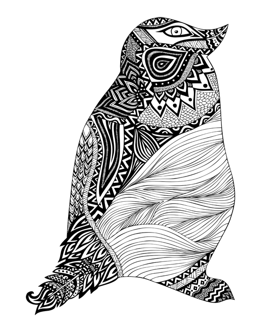 Graphic design art black and white  Black & White Illustrations - Pom Graphic Design