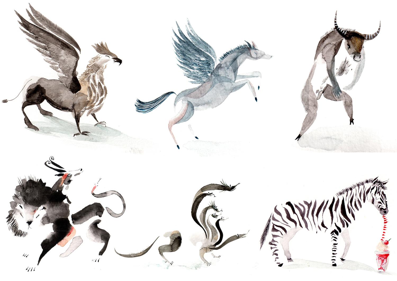 Worksheet Mythical Creatur mythical creature lucy eldridge illustration