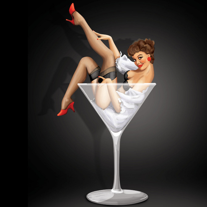 Bien connu 50's Pin Up Illustration - From design with love ED51