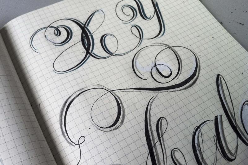 Sketching lettering drawing krista radoeva altavistaventures Choice Image
